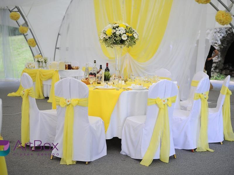 Ромашковая свадьба оформление зала фото